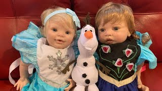 Elsa and Anna reborn baby dolls! From Frozen!
