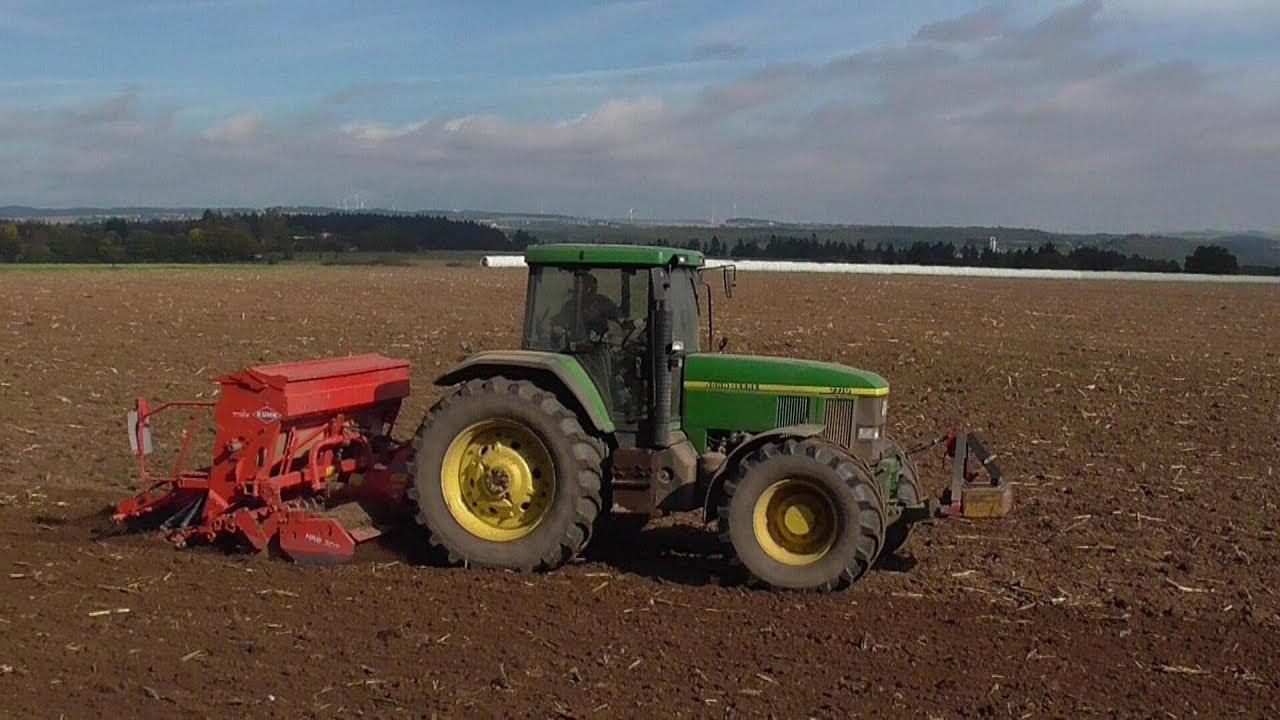 Gesät  Weizen wird gesät. Eifel - YouTube