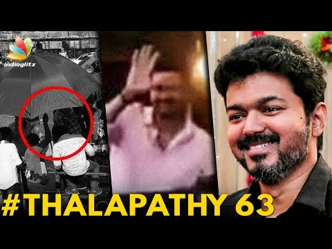 Thalapathy 63 : Vijay Mobbed by Fans   Atlee Movie   Hot Tamil Cinema News