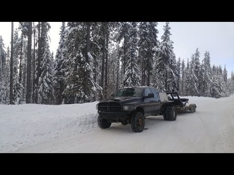 TOWING THROUGH THE ROCKY MOUNTAINS IN -25