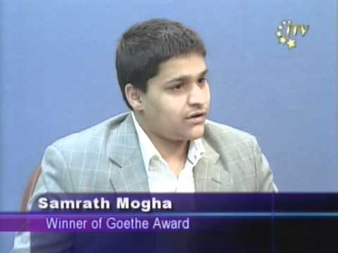 Samrath Mogha (Anshuman) ITV Interview Regarding Goethe Award Part 2