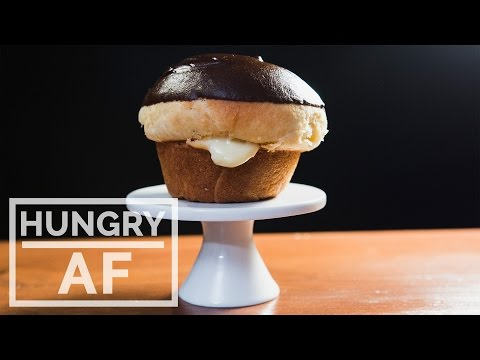 Boston Cream Donut Muffins l Hungry AF