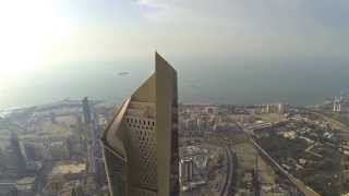 DJI Fly Over Top Of AL Hamra Tower in Kuwait City