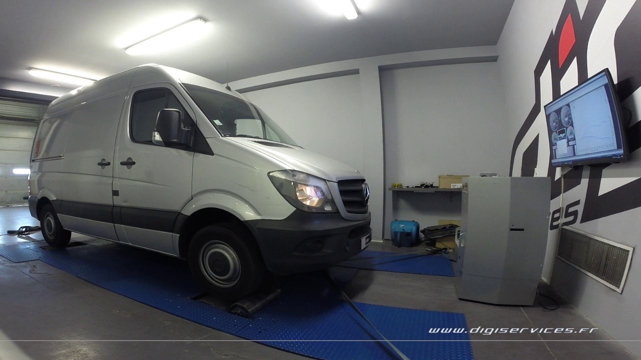 mercedes sprinter 510 cdi 95cv reprogrammation moteur 180cv digiservices paris 77 dyno youtube. Black Bedroom Furniture Sets. Home Design Ideas
