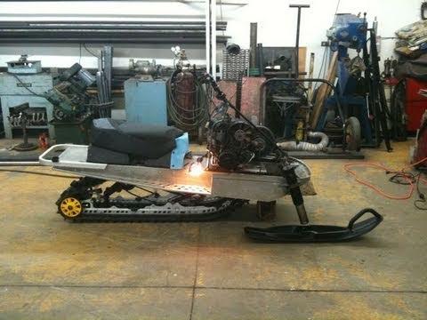 540 Custom Snowmobile Modified Elan Build Process Phase 1