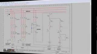 SEB02-Schéma électrique - départ moteur triphasé démarrage direct - puissance version 1