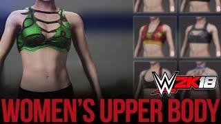 WWE 2K18 Women's Creation Suite: Upper Body Gear