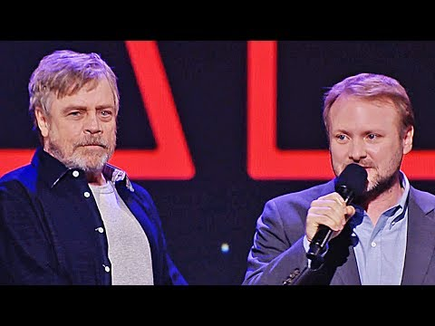 Star Wars at Disney D23 Expo with Rian Johnson and Mark Hamill (2017)