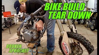 RM125 rebuild disassembly 2-stroke build from home
