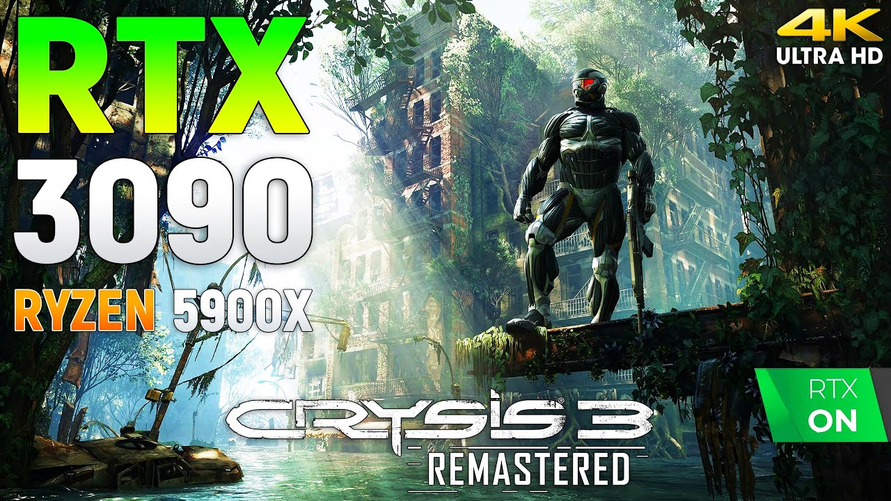 Crysis 3 Remastered RTX 3090 - Can it Run Crysis? l 4K l