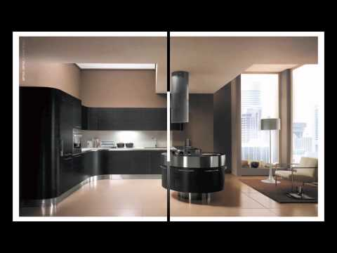 cuisine design futuriste exemple de cuisine italienne de luxe ronde haut de gamme. Black Bedroom Furniture Sets. Home Design Ideas