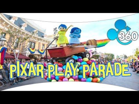 New Pixar Play Parade 360! 4k HD Opening Day! Disneyland VR 360º
