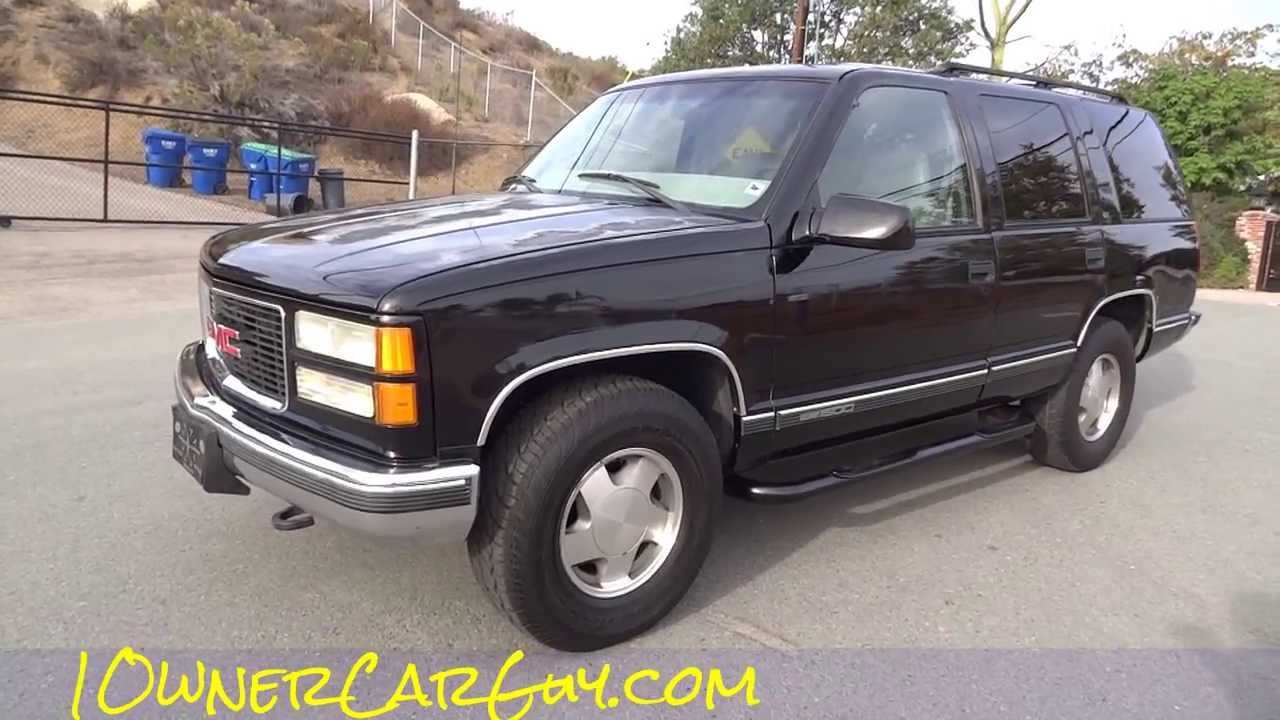 Gmc Denali N >> 99 GMC Yukon Denali SLT SUV 4x4 Tahoe For Sale - YouTube