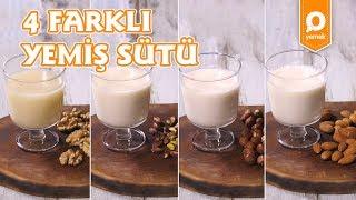 4 Farklı Yemiş Sütü - Onedio Yemek - Tek Malzeme Çok Tarif