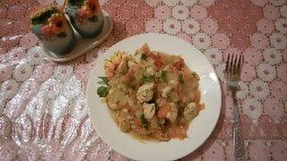 Куриное филе тушеное с овощами/ужин вкусно и просто
