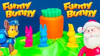 FUNNY BUNNY Game Paw Patrol + Santa Claus Play Funny Bunny Game Unboxing Toy Video