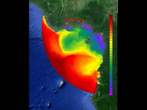 Gulf of Guinea surface salinity over year 2005