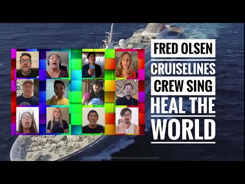Fred. Olsen Cruise Lines sing to Heal the World