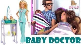 Мультик Барби. Играем в Доктора Куклы Барби. Baby Doctor Барби Мультик. Девушки Эквестрии. Пупсики