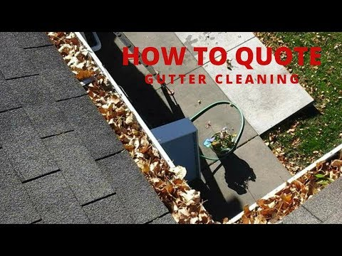 How To Quote Gutter cleaning | What do I Need To Charge To Make Profit?