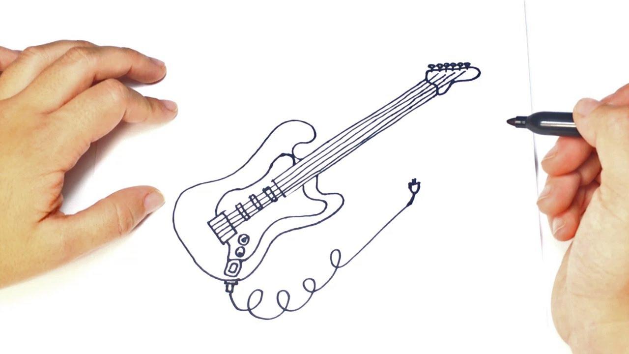 Como Dibujar Un Guitarra Eéctrica Paso A Paso Youtube