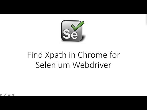 How to find XPath in Chrome Browser for Selenium WebDriver