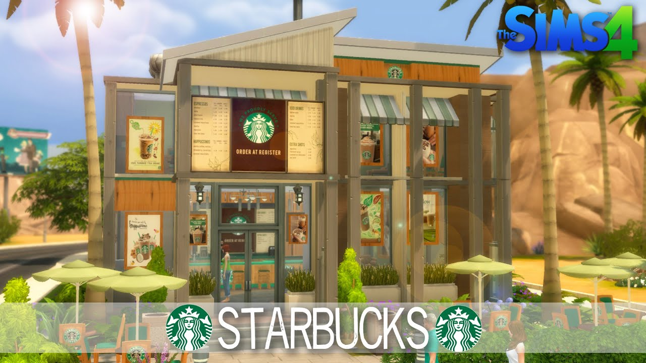 The Sims 4 Speed Build Starbucks House Building