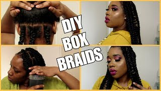 HOW TO|  DIY BOX BRAIDS | NO RUBBER BAND