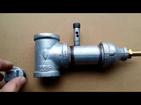 Sandblaster cabinet DIY metering valve