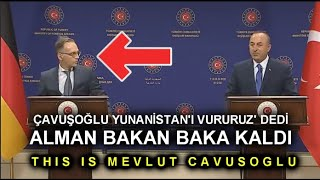 ÇAVUŞOĞLU 'HIT' GREECE! (ÇAVUŞOĞLU STAYED ON HIS FACES)