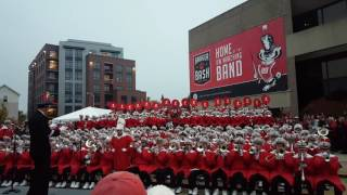 The Wisconsin Badger Marching Band performs their Fight Song