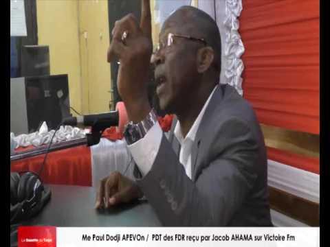 Me Paul Dodji APEVON reçu par Jacob AHAMA sur Victoire Fm