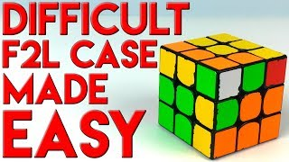 2 Tricks To Make A Hard F2L Case REALLY EASY
