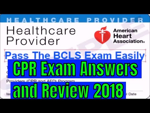 CPR Exam Answers And Review