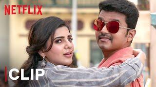 Thalapathy Vijay & Samantha Akkineni Rose Milk Scene   Yogi Babu   Mersal   Netflix India