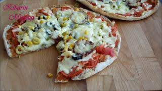 5 dakikada pizza nasıl yapılır - Kahvaltılık nefis pratik bazlama pizza tarifi- Kahvaltılık tarifler