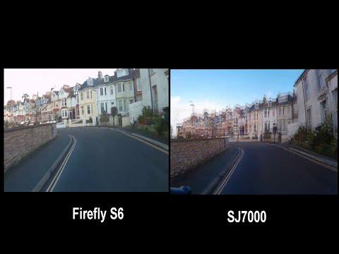 Comparison Firefly S6 4K WiFi Sport gyro stabilised HD camera vs SJ7000 action camera