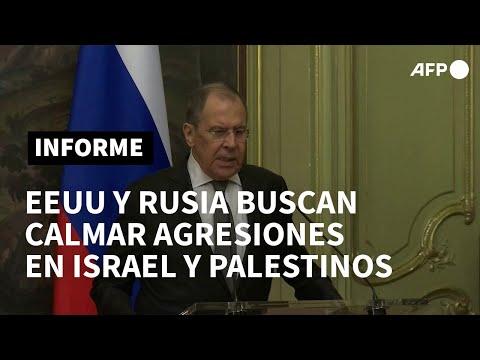 EEUU, Rusia, la ONU y la UE buscan apaciguar agresiones entre Israel y palestinos   AFP