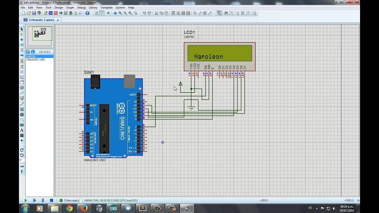 Arduino lcd en proteus muestra youtube