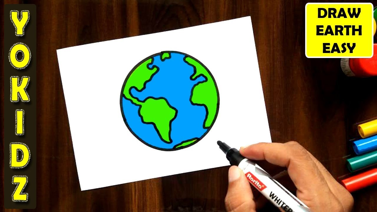How To Draw Earth Easy Youtube