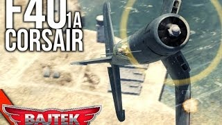 War Thunder Gameplay | #38 Polowania z Bajtkiem - F4U Corsair !