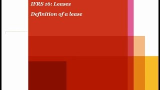 PwC's Analysing IFRS 16 Leases - 1. Definition of a lease