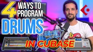 4 Ways To Program Drums In Cubase #drumprogramming #cubase