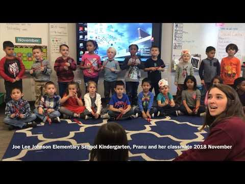 Joe Lee Johnson Elementary School | Kindergartners | Pranu Parajuli