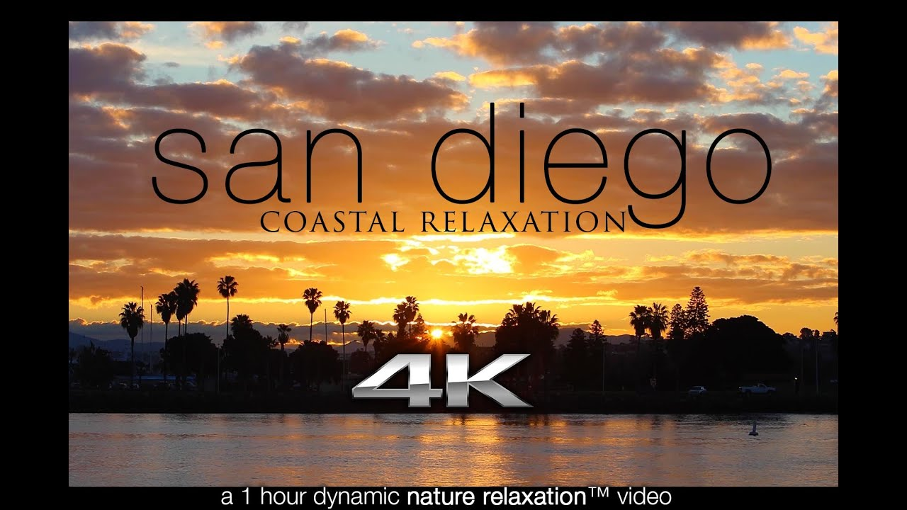 4K: San Diego Coastal Relaxation 1HR Nature Video w/ Ocean Sounds UHD