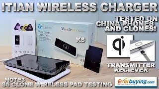 Itian Qi Wireless Charger / Universal Test on China Clones/Phones (HDC Galaxy S5 G900F & Note 3 MAX)