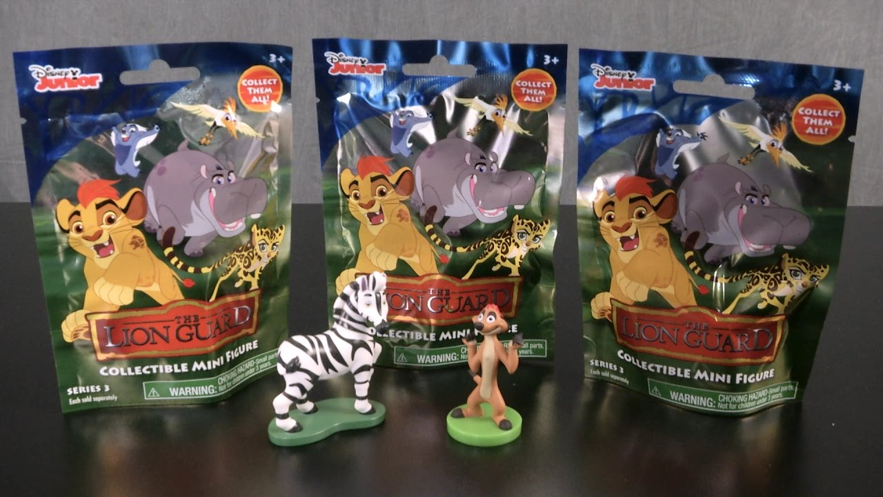 4 Disney Lion King Guard Blind Bag Lot Collectible Mini Figure Toy Series 3 NEW