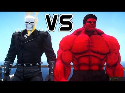 GHOST RIDER VS RED HULK - EPIC BATTLE