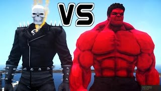 GHOST RIDER VS RED HULK - EPIC BATTLE