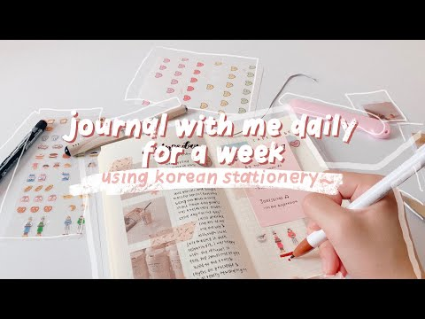 journal with me daily for a week ✍ | using korean stationery! ✦